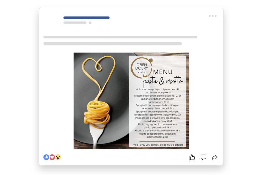 dobra agencja marketingowa menu pasta